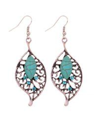 Yazilind Jewelry Vintage Tibetan Silver Leaf Shape Turquoise Crystal Drop Dangle Earrings for Women - Jewelry Fashion Earrings, Women's Earrings, Fashion Jewelry, Women Jewelry, Jewelry Sets, Jewelry Accessories, White Gold Jewelry, Silver Rings, Crystal Drop