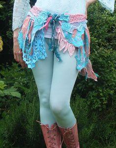 Upcycled Nuno Felt and Lace Fairy Skirt