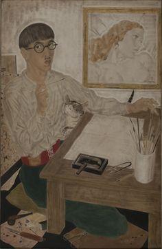 "| Léonard Tsuguharu Foujita | ""Autorretrato"" | 1931 | Óleo y tinta sobre tela | 100 x 65 cm. - Marco: 113,3 x 78,5 x 6 cm. | Inv. 2694 | http://www.mnba.gob.ar/coleccion/obra/2694 |"