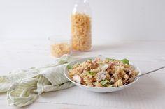 Fusilli Creamy Petits Pois & aux Champignons Fusilli, Potato Salad, Grains, Potatoes, Rice, Ethnic Recipes, Kitchen, Foodies, Frozen Peas