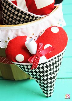 Heart Pocket Pillows and Treat Bags (Two Projects, One Pattern!)