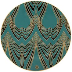 Roberto Cavalli Deco Charger Plate - 32cm ($295) ❤ liked on Polyvore featuring home, kitchen & dining, dinnerware, blue, blue dinnerware, blue charger, dishwasher safe dinnerware, dishwasher safe plates and chevron plates