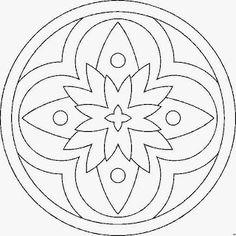 Mandalas Mandala Coloring Pages Beading Patterns Felt Mosaic Pattern Art