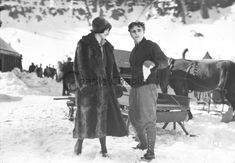 Lita Grey and Charlie Chaplin on location in Truckee, California shooting The Gold Rush 1925 Chaplin Film, Charles Spencer Chaplin, Stage Show, Angels In Heaven, Charlie Chaplin, Dance Hall, Gold Rush, Silent Film, Girl Dancing