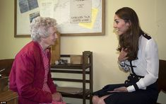 6/18-Chat: The Duchess of Cambridge talks to Bletchley veteran Marion, Lady Body, who knew her grandmother, Valerie Glassborow, who died in 2006