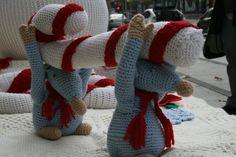 A estos ratoncitos les encanta su trabajo :) #LanaConnection #CampañaporlaLana #Crochet (foto @queenJ_itsme)