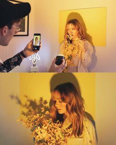 Brandon Woelfel is a Photographer based in New York. He created a unique style with unique photo edits. Brandon Woelfel said his career was growing too fast Creative Portrait Photography, Portrait Photography Poses, Photography Poses Women, Creative Portraits, Photography Editing, Yellow Photography, Digital Photography, Creative Pics, Photography Hacks