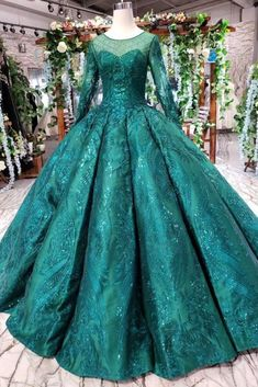 Buy Dark Green Long Sleeves Ball Gown Prom Dress with Beads, Lace up Quinceanera Dresses on sale.Shop prom or formal dresses from Promdress. Find all of the latest styles and brands in Junior's prom and formal dresses at Prom Dresses Long With Sleeves, Cheap Prom Dresses, Girls Dresses, Flower Girl Dresses, Bridesmaid Dresses, Dress Prom, Nice Dresses, Long Dresses, Formal Dresses