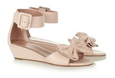 Red Valentino Leather Wedge Sandal - 2013