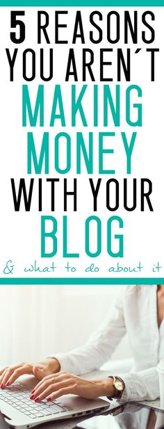 wondering why your blog isn't making money yet? Here's your answer!