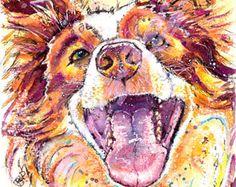 Border Terrier Picture Print of Original by JaPeyArtnStuff on Etsy