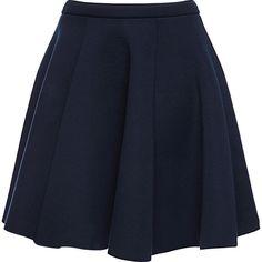 Clothing, Shoes & Accessories Brave H&m Blue Geometric Print Cotton Blend Mini Skirt Size 6 Short Skirt Skirts