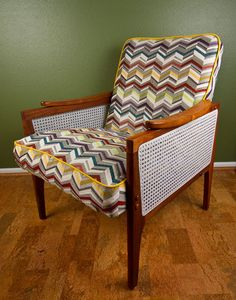 Reupholstered and Refinished Vintage Arm by UpscaleandUpcycled, $210.00