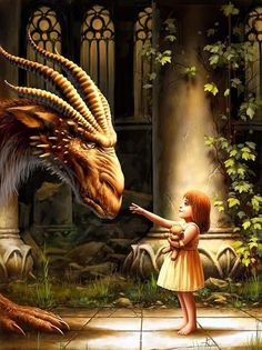 dragon and child