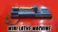 How to make a MINI LATHE MACHINE for your own