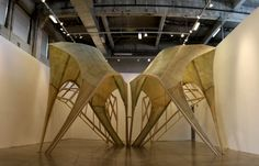 Zaha Hadid's Pleated Shell Structures