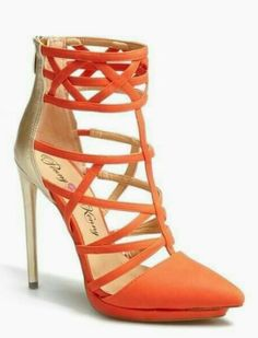 69d5a7cc25b Penny Loves Kenny  Cross  Strappy Two-Tone Pointed Toe Sandals