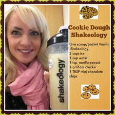 Chocolate chip cookie dough shakeology