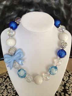 Cinderella inspired girls chunky necklace