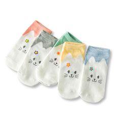 Women Cotton Cartoon Socks Candy Bar Antenna Catwoman Invisible Socks