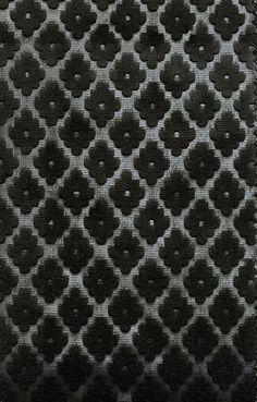 Cassandre Velvet Upholstery Fabric Black | Henley Velvet Collection from Northcroft