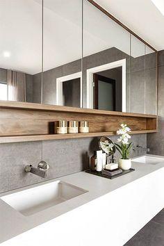 55 Stunning Farmhouse Bathroom Mirror Design Ideas And Decor - . 55 Stunning Farmhouse Bathroom Mirror Design Ideas And Decor - Always aspired. Farmhouse Bathroom Mirrors, Bathroom Mirror Design, Bathroom Inspo, Modern Bathroom Design, Bathroom Styling, Bathroom Interior Design, Bathroom Ideas, Bath Ideas, Bath Design