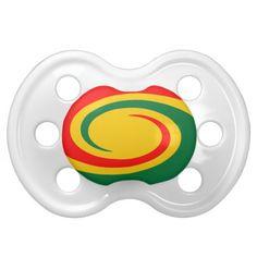 Rasta Swirl Baby Pacifiers