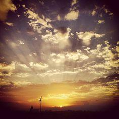 #Sunset in West Baton Rouge, #Louisiana. #sunrays #portallen #westbatonrouge