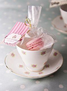Tea and Macarons ~ party favor.idea