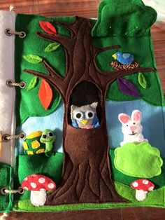 Gabriel & Joshua's quiet book - Enchanted forest page