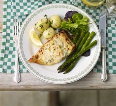Freshsalmon with dill & capers. A quick and simple roast fish dish that's packed with flavour and moisture