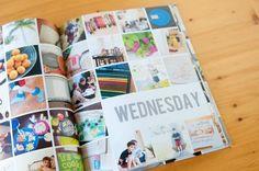 Fotobuch 1. Lebensjahr Layout Idee