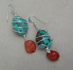 Native & Western Designs - turquoise wire wrap