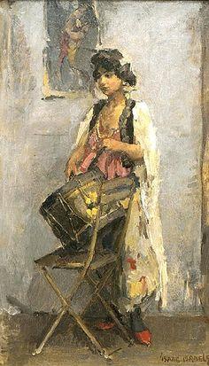 Trommelslaagster by artist Isaac Israëls - Monet, Amsterdam, La Haye, Dutch Painters, Dutch Artists, Renoir, Figure Painting, Figurative Art, Love Art