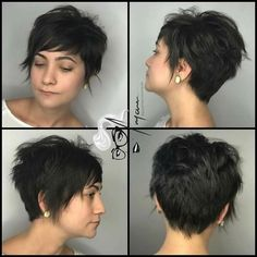 30 Refreshing Variations of Short Pixie Haircut Wigs - Short Pixie Cuts Short Pixie Haircut Wigs The main highlight of pixie haircuts can be considered the difference in the length of all hair (which does not fall below . Pixie Haircut For Thick Hair, Short Pixie Haircuts, Haircuts With Bangs, Pixie Hairstyles, Pretty Hairstyles, Short Hair Cuts, Short Hair Styles, Shaggy Pixie Cuts, Great Hair