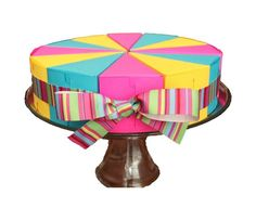 Paper Cake and Centerpiece Colorful Fun Favor Boxes