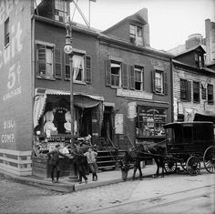 Hanging Out on the Corner of Delancey and Clinton Streets, New York City, 1906 | #NYC #NY