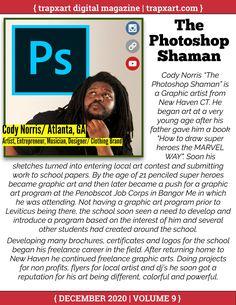 Trapxart® Digital Magazine Volume 9 December 2020 - Flipbook - Page 68 Job Corps, Hip Hop Playlist, 9 December, Art Programs, Digital Magazine, How To Become, Nerd, Photoshop, Artist