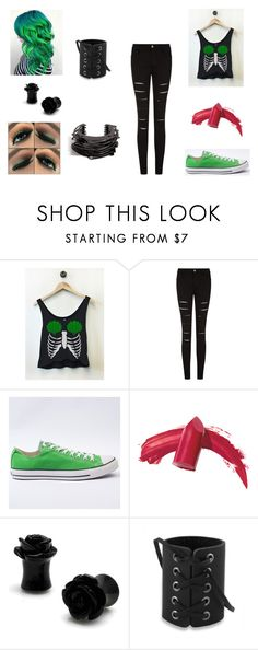 """Untitled #1238"" by cjfulmer on Polyvore featuring Converse, Elizabeth Arden and Lynn Ban"