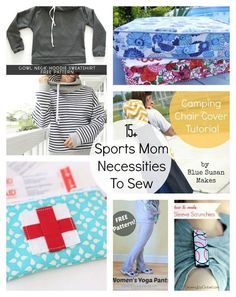 DIY Mother's Day Gifts for the Sports Mom!  15+ DIY sports mom necessities to sew