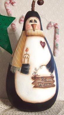 penguin gourd painting pattern