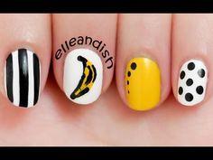 ▶ Andy Warhol Banana Inspired Nails - YouTube // elleandish