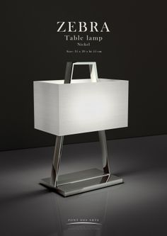 Zébra Table lamp - Pont des Arts - Designer Monzer Hammoud - Paris