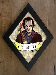 Jack Torrance (Jack Nicholson) from The Shining framed print. I'm Home diamond framed print