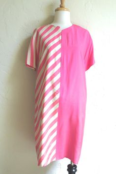 Rare Early 1960s Mod Rudi Gernreich Silk Graphic Dress