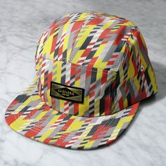 Riley 5 Panel Cap - Black Red Yellow  e81b9ea5cda