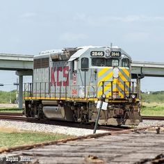 Kansas City Southern EMD GP40-3 # 2846 in Victoria Texas on August 8 2015.