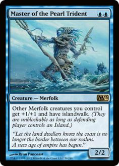 Master-of-the-Pearl-Trident-x4-Magic-the-Gathering-4x-Magic-2013-mtg-card-lot