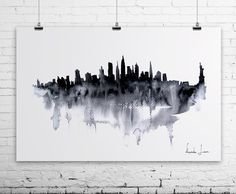 New York City Watercolor Painting Art Print by WatercolorPrint, $30.00