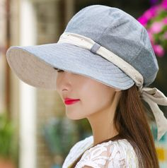 542aede1ab0 Summer wide brim sun hat for women bow visor sun protection hats ridinmg  wear
